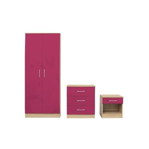 Dakota Pink Bedroom Set