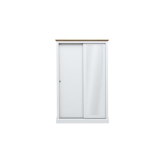 Devon 2 Door Sliding Wardrobe (White)