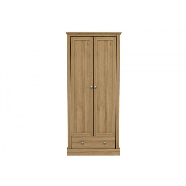 Devon 2 Door + 1 Drawer Wardrobe (Oak)