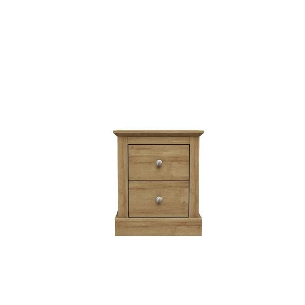 Devon 2 Drawer Bedside (Oak)