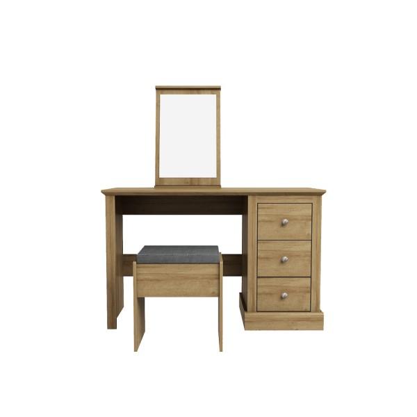 Devon 3 Drawer Dressing Table (Oak)
