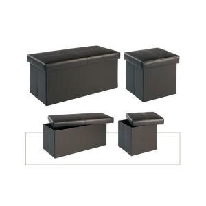 Madrid Medium Storage Stool in Black