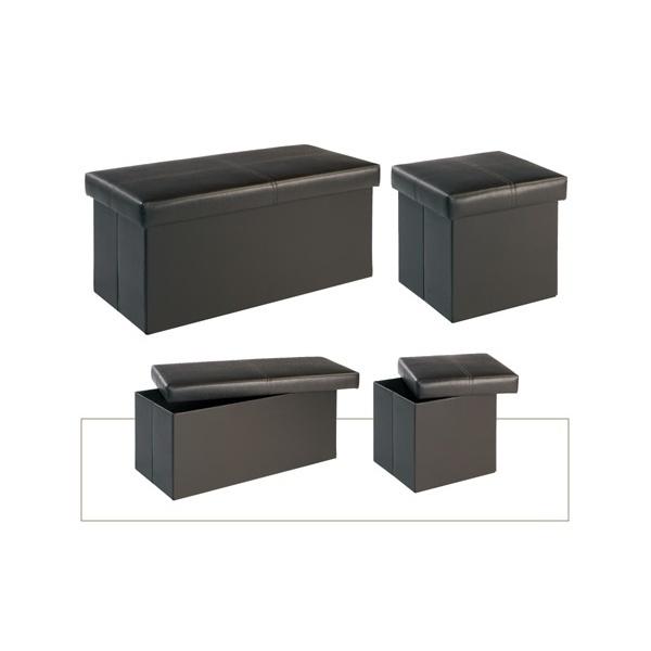 Madrid Black Medium Storage Stool