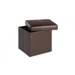 Madrid Small Storage Stool in Black