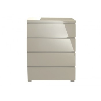 Puro Highgloss 4 Drawer Chest in Stone