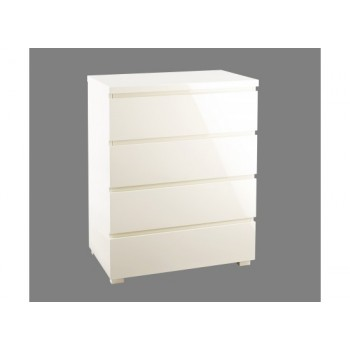 Puro Highgloss 4 Drawer Chest in Cream