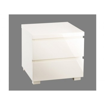 Puro Highgloss Bedside Cabinet in Cream