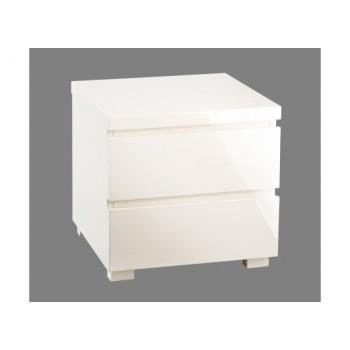 Puro Highgloss Bedside Cabinet in Cream