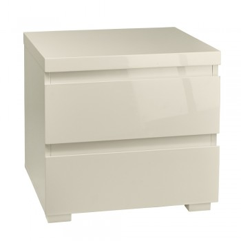 Puro Cream Highgloss Bedside Cabinet