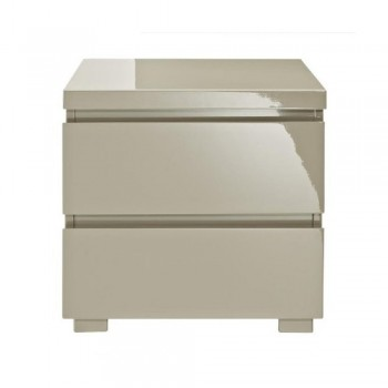 Puro Stone Highgloss Bedside Cabinet