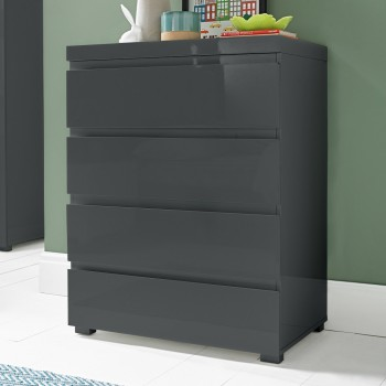 Puro Charcoal Highgloss 4 Drawer Chest
