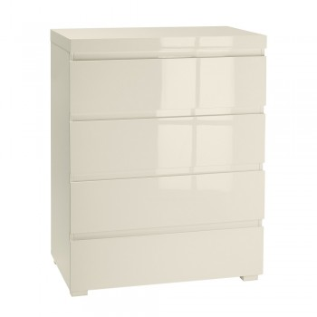 Puro Cream Highgloss 4 Drawer Chest