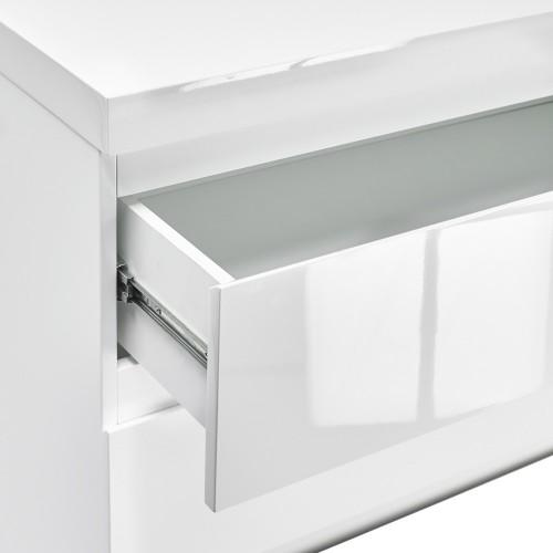 Puro White Highgloss 4 Drawer Chest