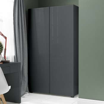 Puro Charcoal Highgloss 2 Door Wardrobe