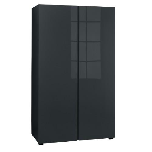 Puro Charcoal Highgloss 2 Door Wardrobe