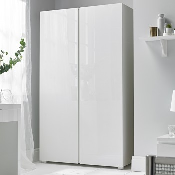 Puro White Highgloss 2 Door Wardrobe