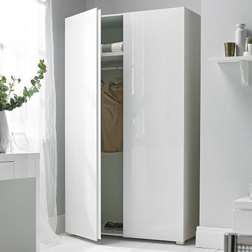 Puro White Highgloss 2 Door Wardrobe