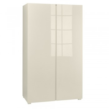 Puro Cream Highgloss 2 Door Wardrobe