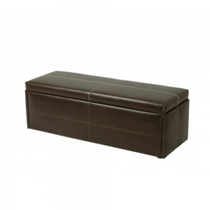 Stanton Large Storage Stool in Brown