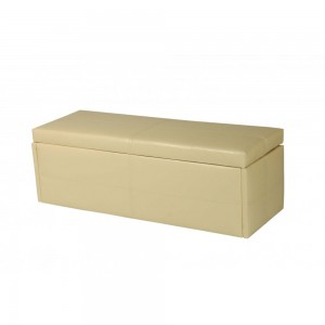 Stanton Large Storage Stool in Cream