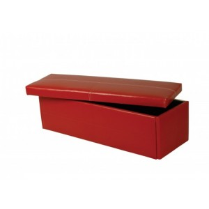 Stanton Large Storage Stool in Red