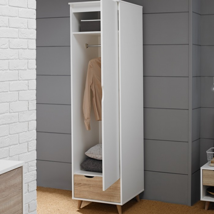 Stockholm 1 Door Wardrobe