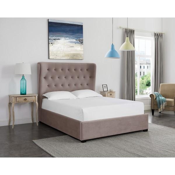 Belgravia Cappuccino Winged Ottoman Bed