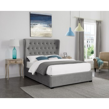 Belgravia Grey Winged Ottoman Bed