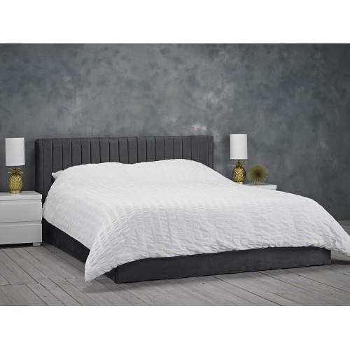 Berlin Grey-Silver Ottoman Bed