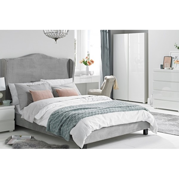 Chateaux Wing Bed (Silver)