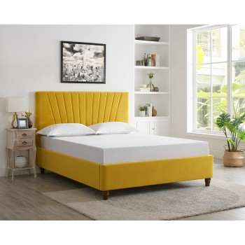 Lexie Mustard Yellow Bed