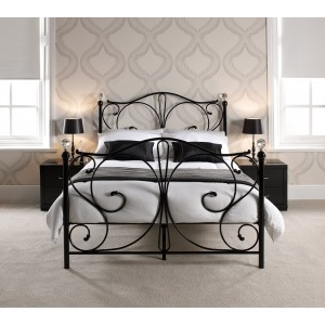 Florence Black Crystal Bed