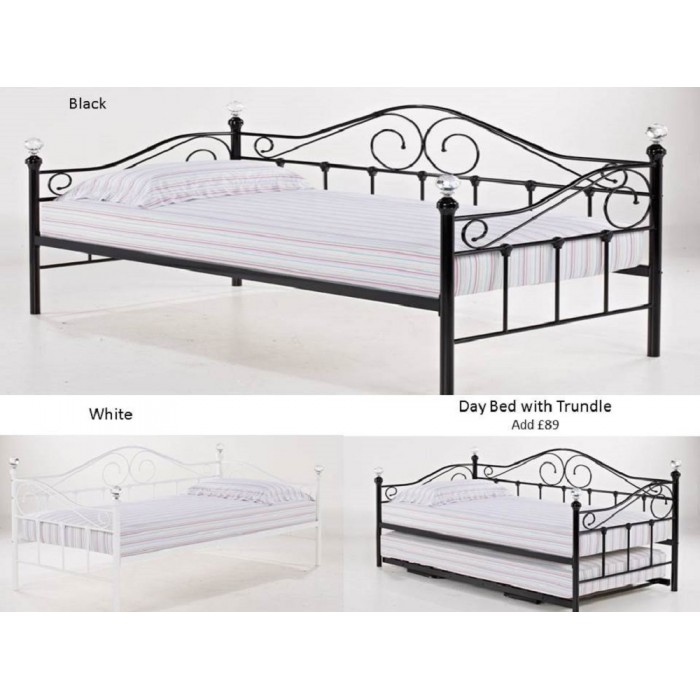 Florence Black Crystal Day Bed