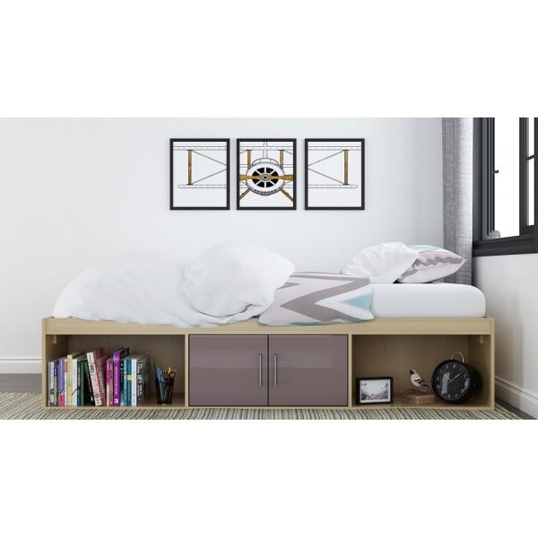 Dakota Cabin Bed (Taupe-Grey)