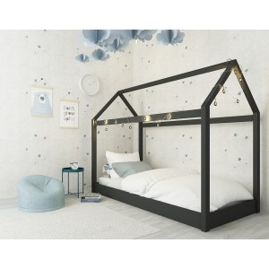 Hickory Black House Bed