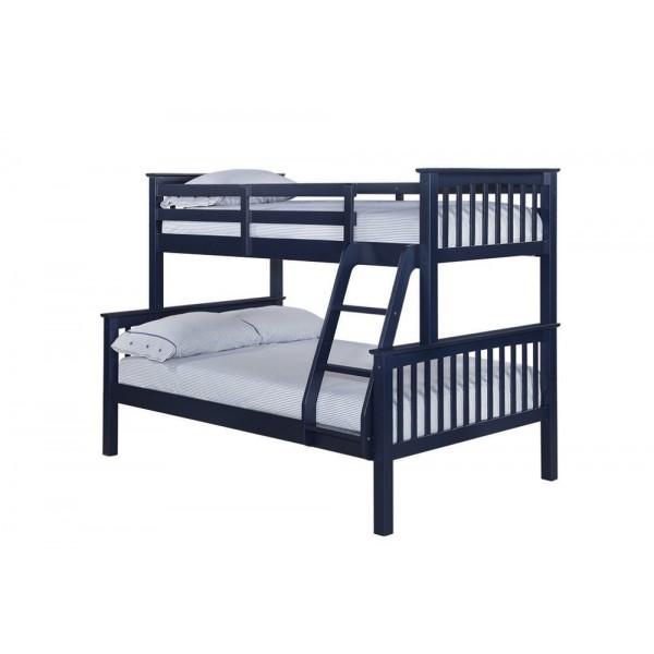 Otto Navy Blue Trio Bunk Bed