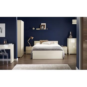 Puro Cream Highgloss Bed