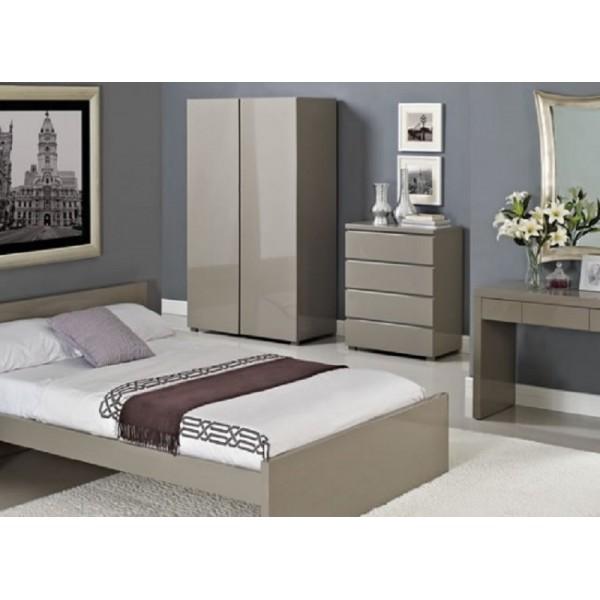 Puro Highgloss Bed (Stone)