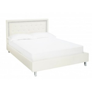 Crystalle Bed in White