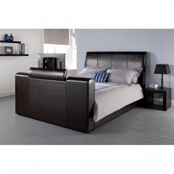 Manhattan TV Bed in Brown *4'6 Out of Stock - Back Soon*