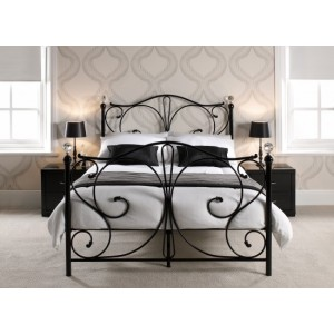 Florence Crystal Bed in Black *Low Stock - Selling Fast*