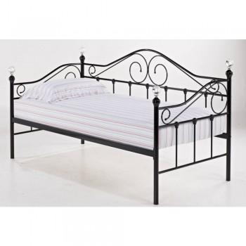 Florence Crystal Day Bed in Black