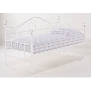 Florence White Crystal Day Bed