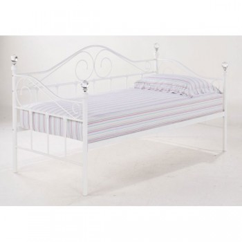 Florence Crystal Day Bed in White