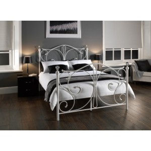 Florence Crystal Bed in White *Low Stock - Selling Fast*
