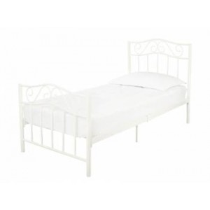 Zeta Bed in White *All sizes Out of Stock - Back Soon*