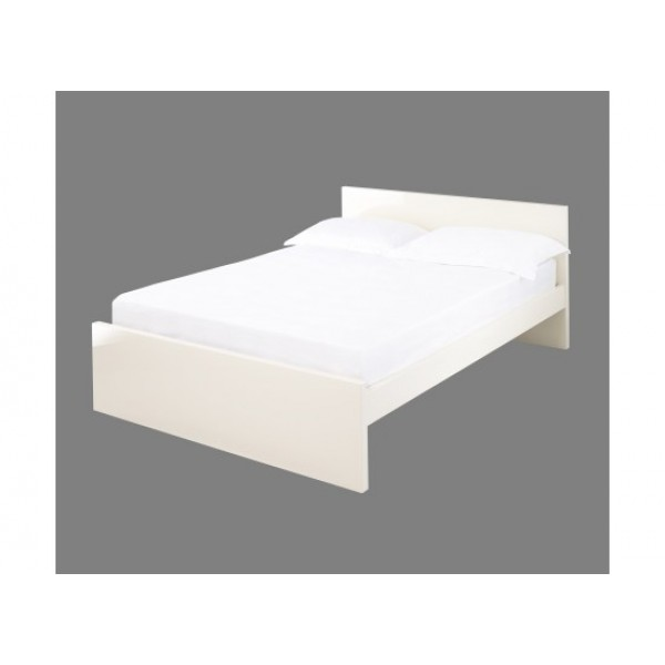 Puro Highgloss Bed in Cream