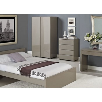 Puro Highgloss Bed in Stone