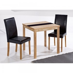 Ashleigh Small Dining Set in Ash & Black {Table + 2}