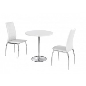 Athena Highgloss Dining Set in White {Table + 2} *Out of Stock - Back Soon*